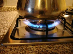 image of stovetop burner flame
