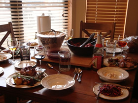 image of Thanksgiving dinner table