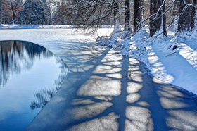 image of a frozen creek